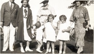 Raymond Tierney and Family with Frank, Virginia and May