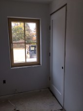 Interior door in mudroom