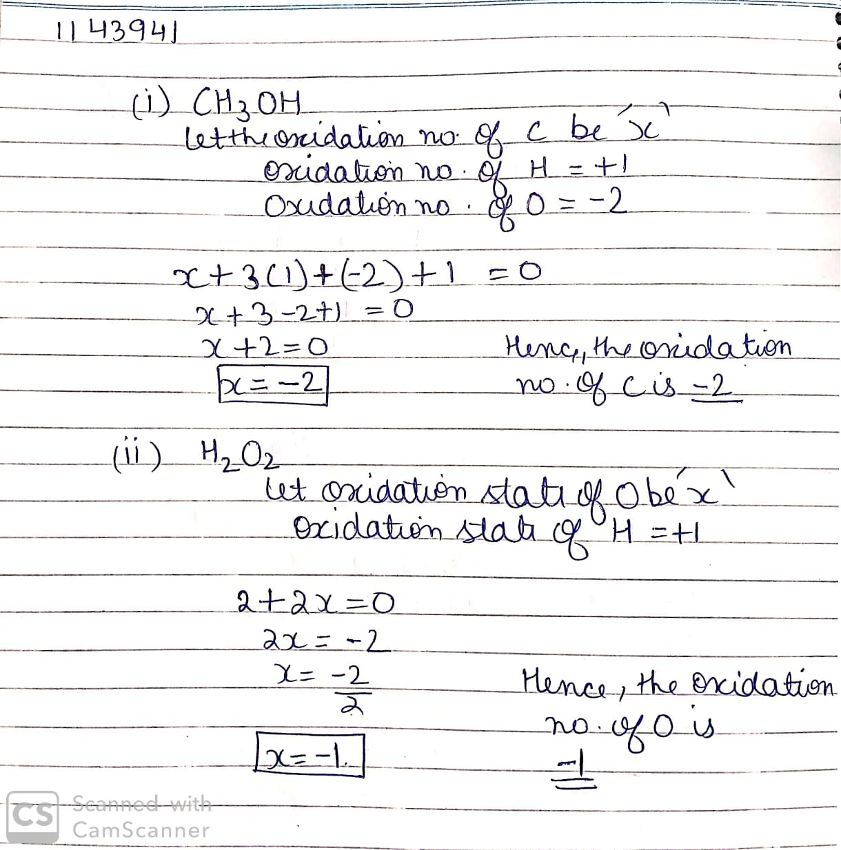 How To Find Oxidation Number In A Compound