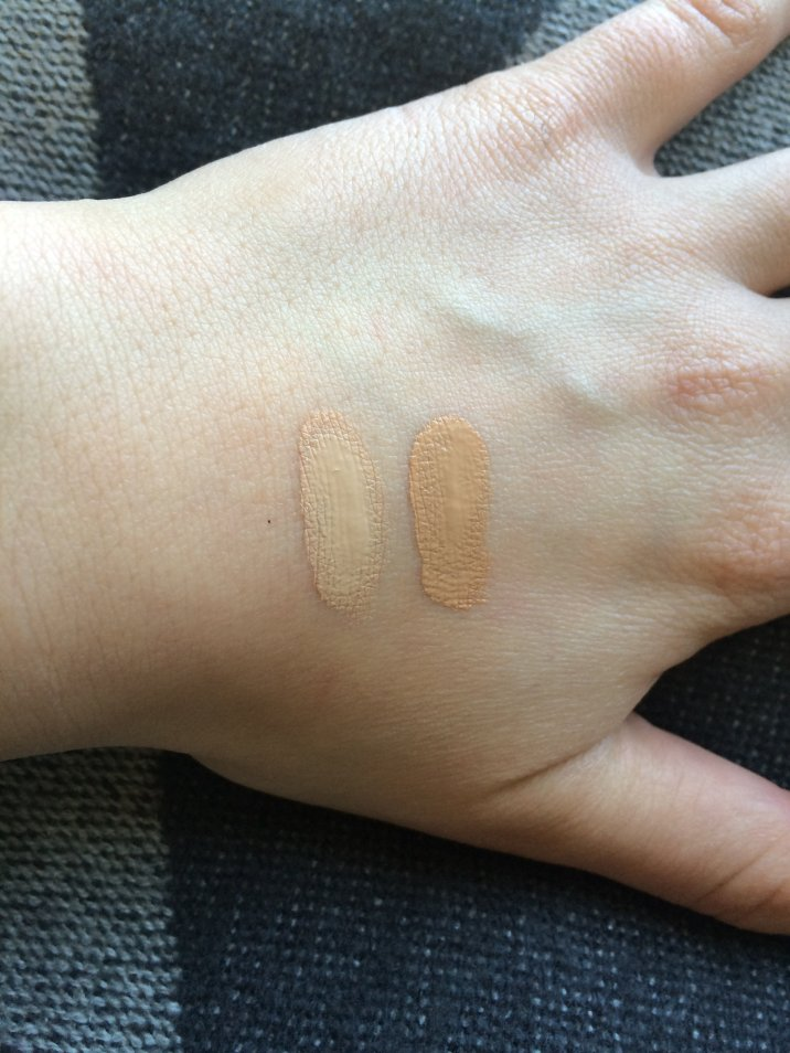 NARS Sheer Glow Foundation Swatches