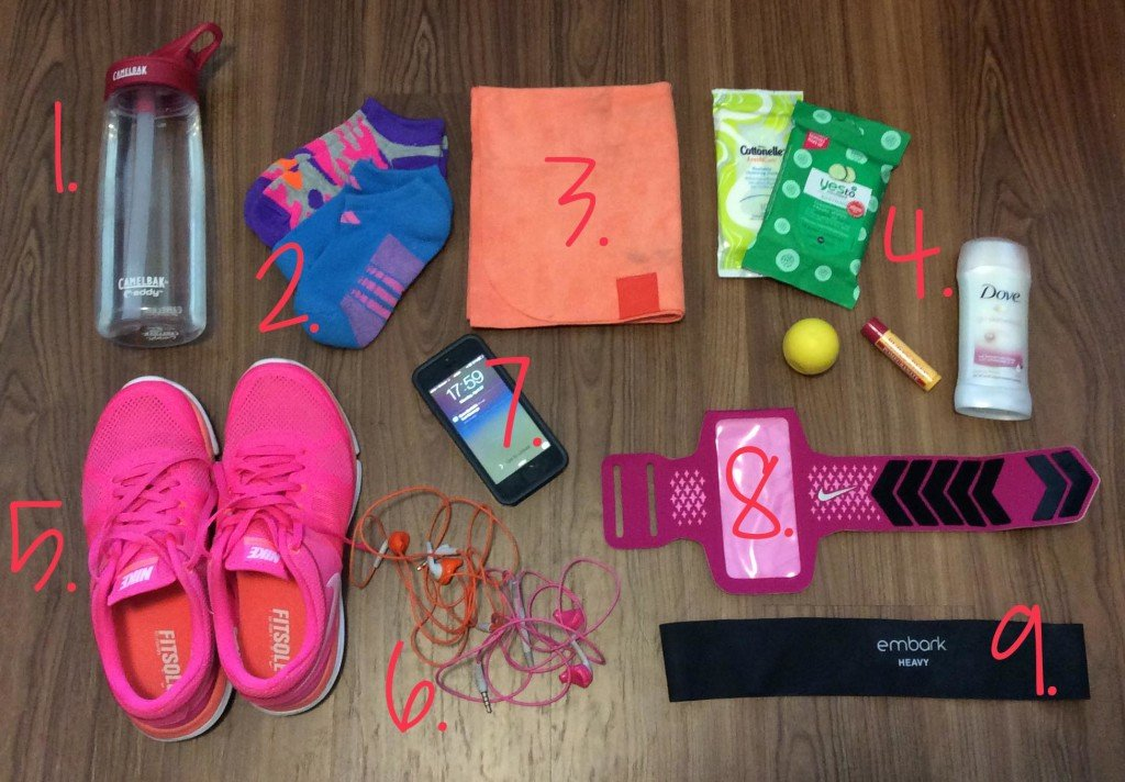 What's In My Gym Bag | hayle santella | www.haylesantella.com