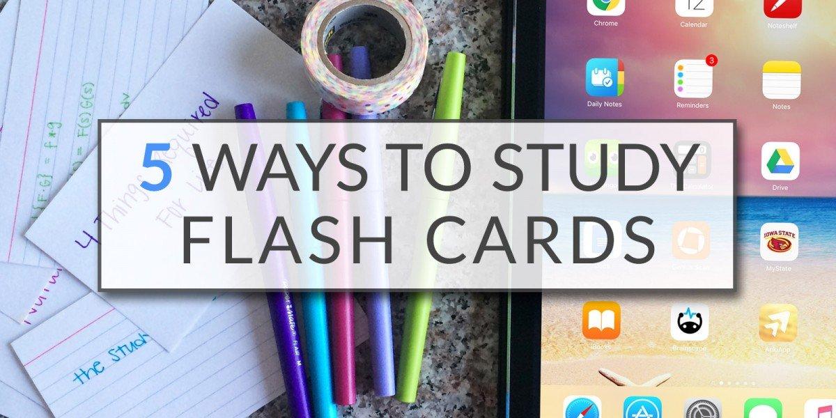 5 Ways To Study Flash Cards   College Tips   hayle santella   www.haylesantella.com