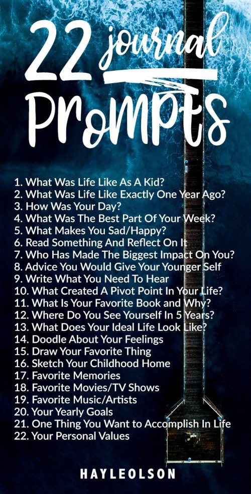 22 Journal Prompts 2018