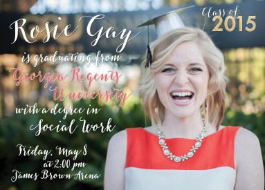 Rosie Graduation Invitation