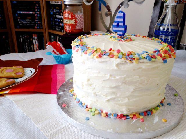 Four Birthday Cake