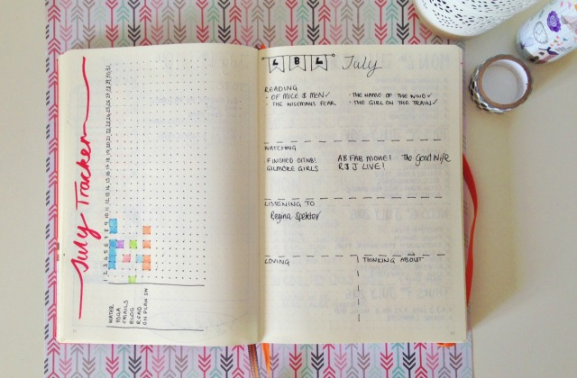 Bullet Journal Monthly Tracker