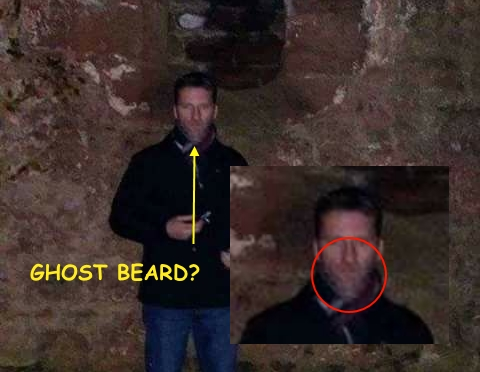 photo of man with alleged ghost beard (caused by pixels)