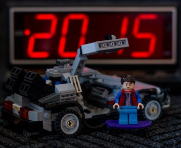 Lego Back to the Future by Hayley Roberts Photography