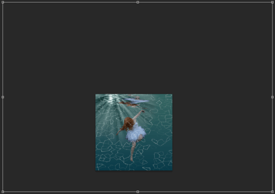 Zoom right out and increase layer size