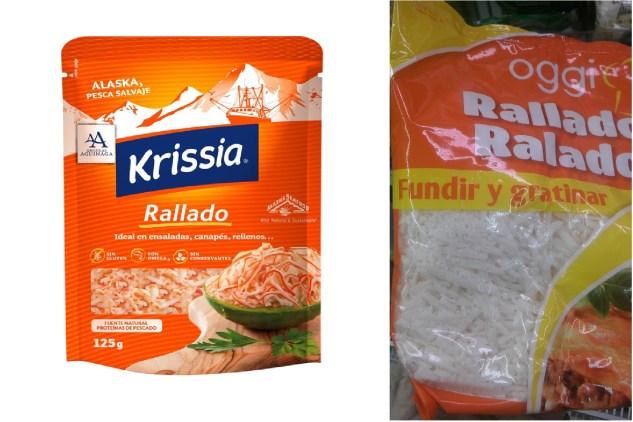 surimi rallado vs queso rallado