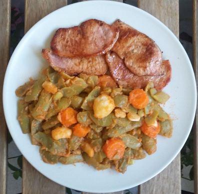 Lomos judias verdes zanahoria tomate patata Sergio Gonzalez