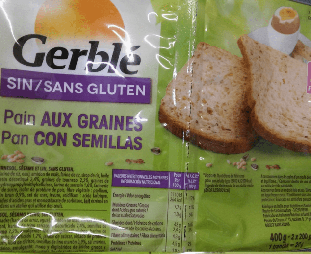 pan sin gluten gerble girasol sésamo y lino