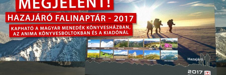 Hazajáró falinaptár 2017