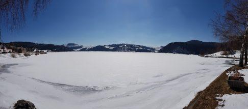 Az Imrikfalvi-tározó télen