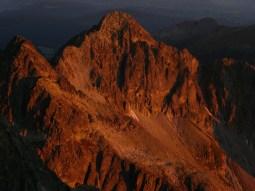 Kilátás a Lomnici-csúcsról észak felé