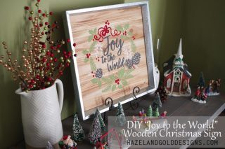 DIY Joy to the World Wooden Sign- social media image