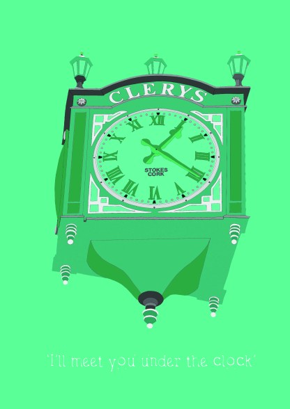 clerysclockgreen