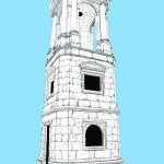 Roman Tower Blue