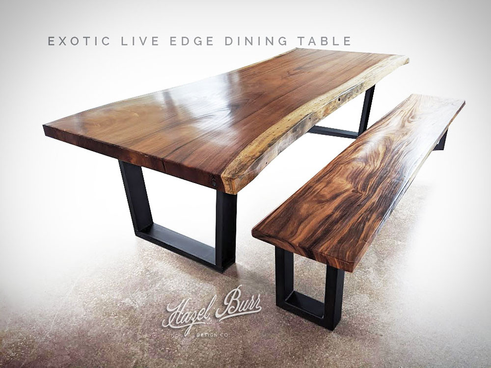 Exotic Live Edge Dining Table