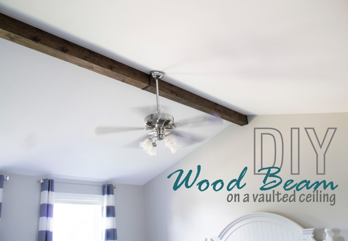 How to: Faux Wood Beam on a Vaulted Ceiling