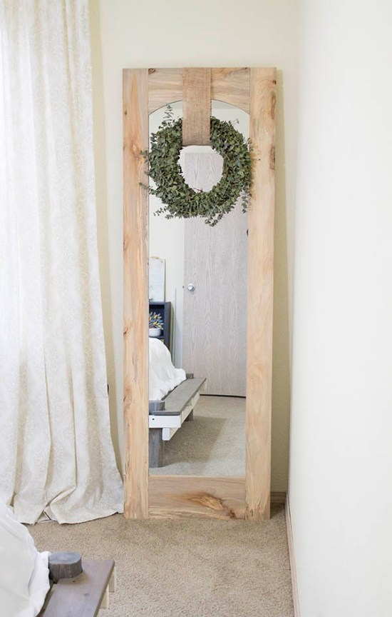DIY Standing Arched Floor Mirror