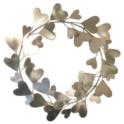 Valentine's Day Heart Wreath Gold- Threshold