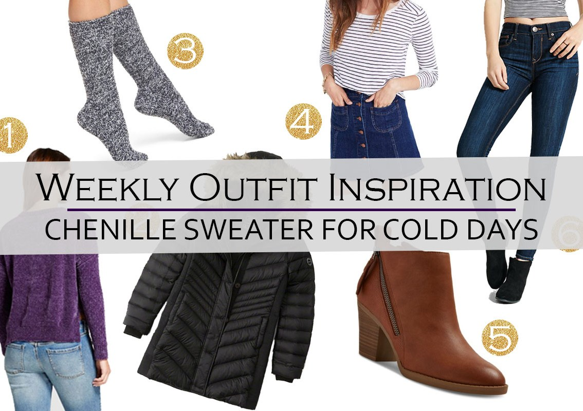 Weekly Outfit Inspiration: Chenille sweater