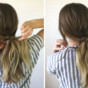 3 Minute Hairstyle: Low Knotted Pony