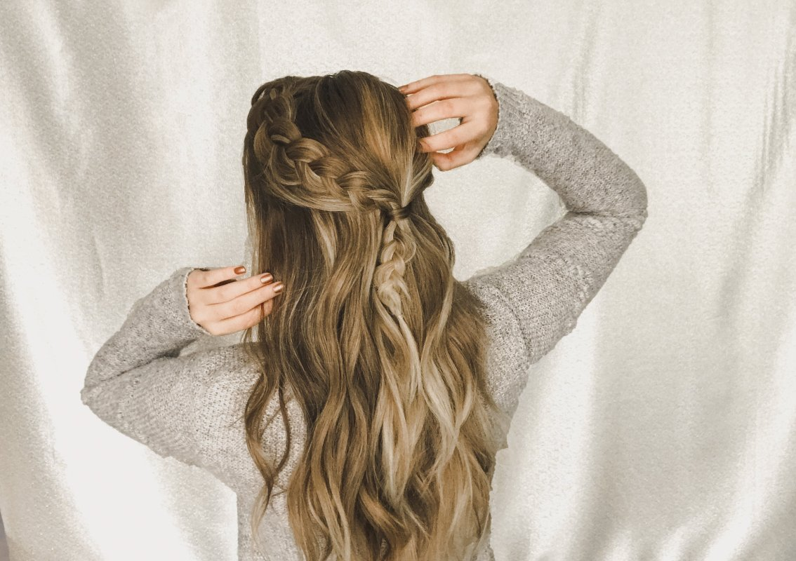 Easy Boho Half-up Braid