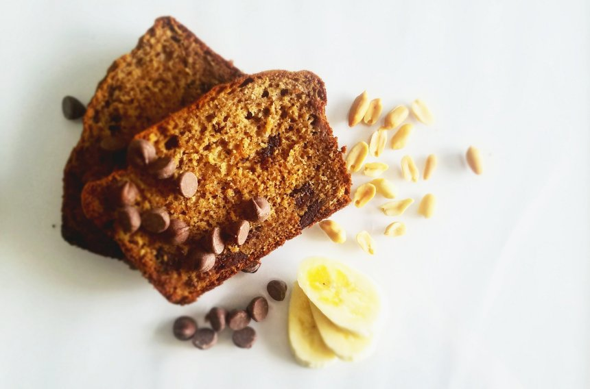 PB-Banana Bread w/ chocolate chunks