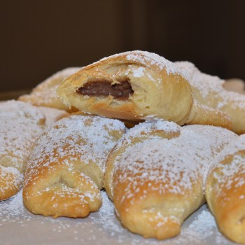 Two Ingredient Chocolate Croissants