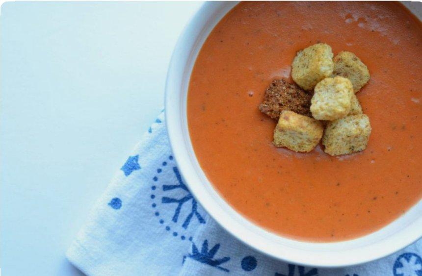 Instant Pot Tomato Soup w/ Basil & Parmesan