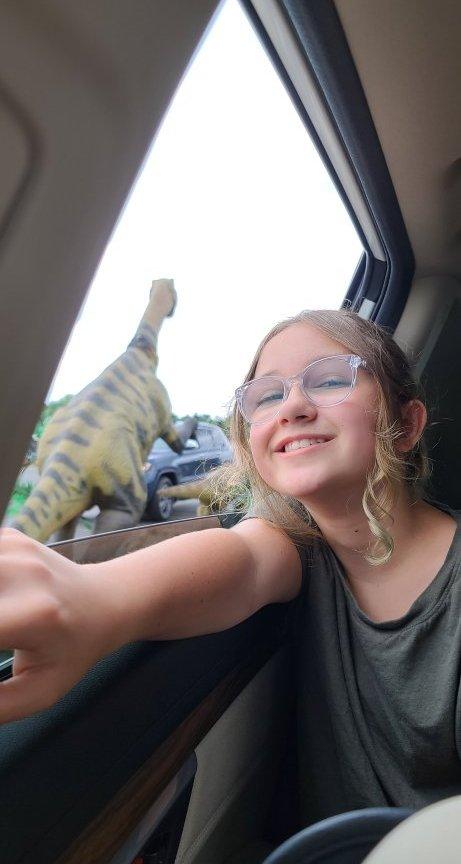 Dinosaur Drive-thru Gurnee, IL www.hazeleyesmom.com