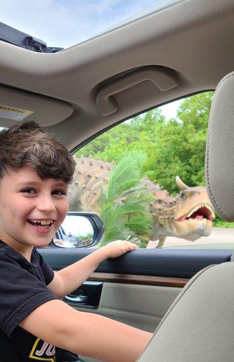 www.hazeleyesmom.com dinosaurs Drive-thru Gurnee, IL