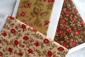 Chocolat fabric on foam core boards