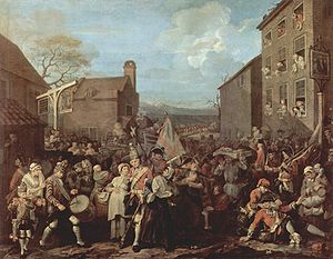 The March of the Guards to Finchley, William Hogarth, 1750