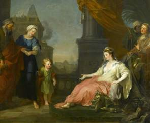 Moses Brought Before Pharaoh's Daughter, Hogarth, 1746