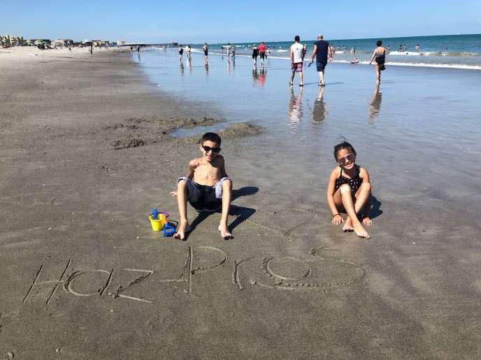 Our Haz-Pros helpers, Lucas and Sophie, having fun on the beach!