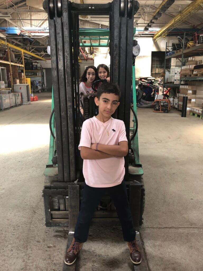Kids On Fork Lift Haz Pros Inc
