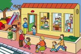 camino de casa al colegio