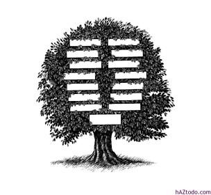 Modelo de árbol genealógico para imprimir