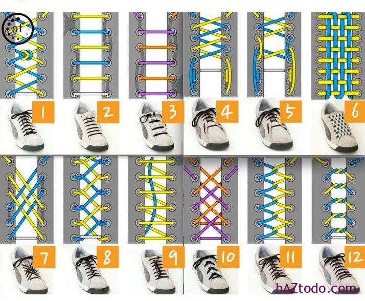 Formas creativas de atarse los cordones