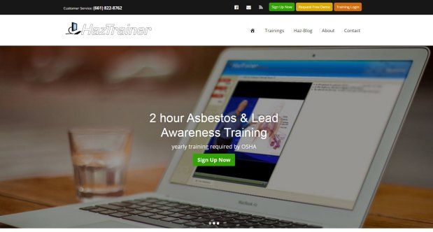 new haztrainer website asbestos and lead awareness training