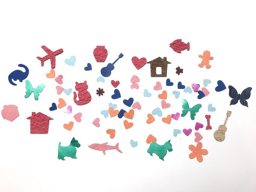 Die cut-out shapes