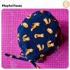 Playful Foxes Printed cap