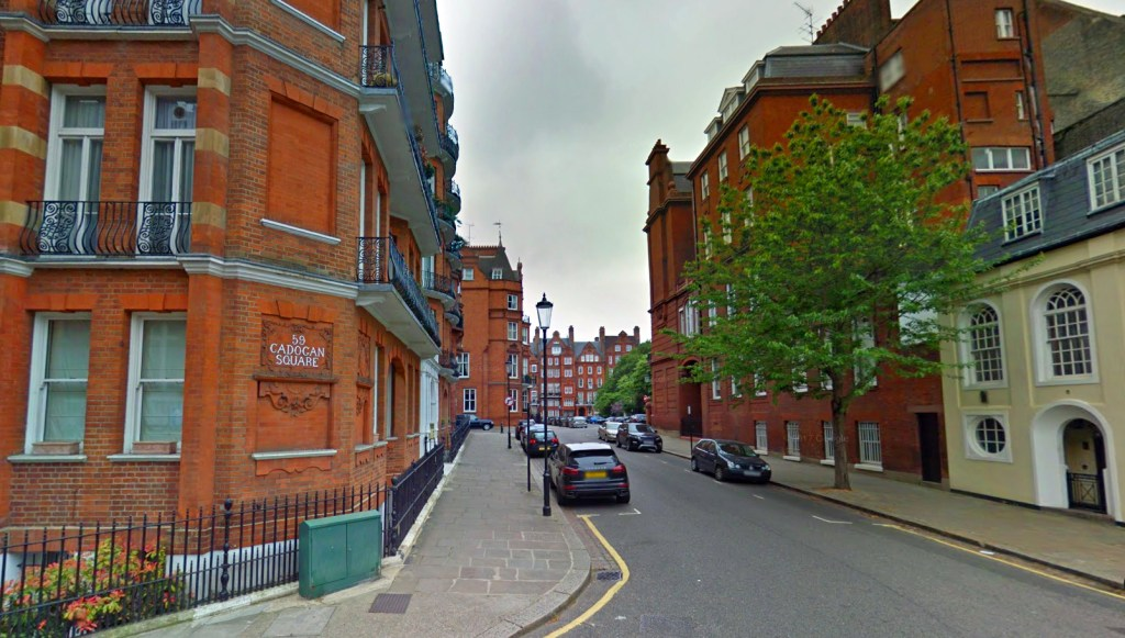 Pavilion Road and Cadogan Gate - credit Google Maps