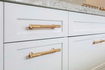Armac Martin Sparkbrook Pull Polished Brass Cabinet Handles | HB Design