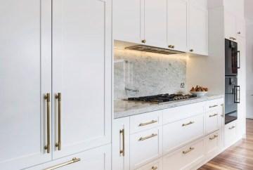 Hampton Kitchen Design with Integrated Fridge | HB Design