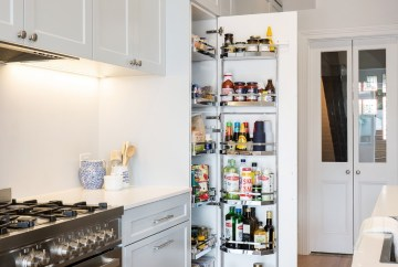 Pull Out Kitchen Pantry | Helen Baumann Design
