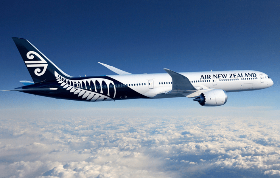 Air New Zealand Plane Flying